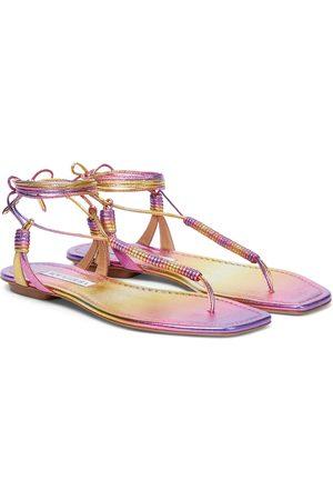 Aquazzura Sole leather thong sandals