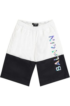 Balmain Logo swim trunks