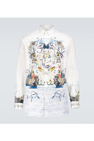 Burberry Printed long-sleeved shirt