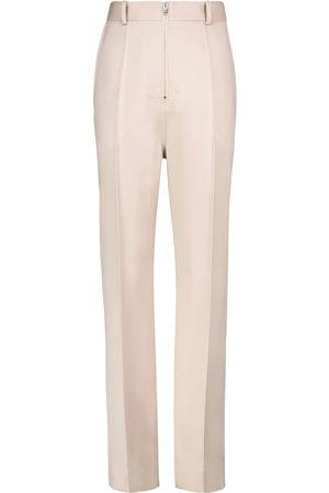 Peter Do High-rise wool wide-leg pants
