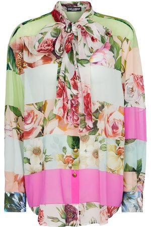 Dolce & Gabbana Floral silk georgette blouse