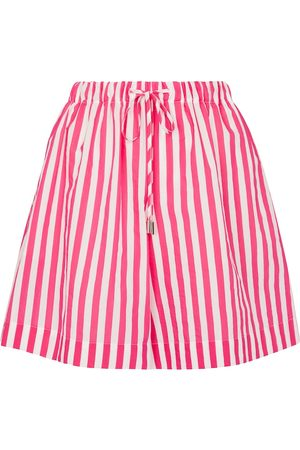 Max Mara Fiamma striped cotton-blend shorts
