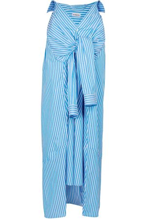 Balenciaga Striped cotton poplin maxi skirt