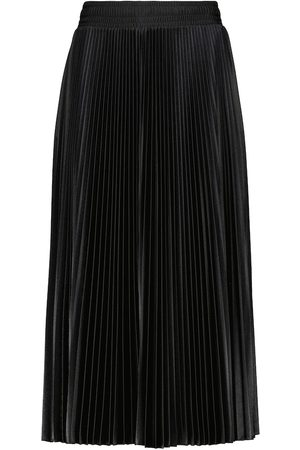 Balenciaga Micro-pleated jersey midi skirt