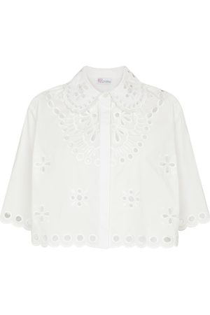 RED Valentino Stretch-cotton blouse