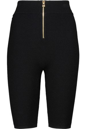Balmain Ribbed-knit biker shorts