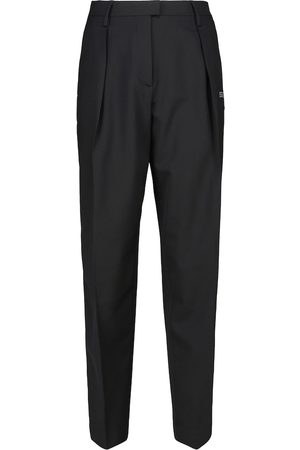 OFF-WHITE High-rise tapered wool-blend pants
