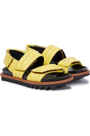 DRIES VAN NOTEN Leather slingback sandals
