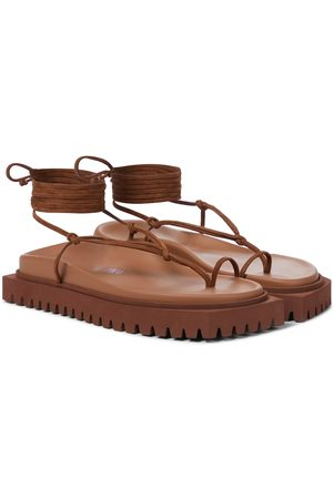 The Attico Renee suede thong sandals