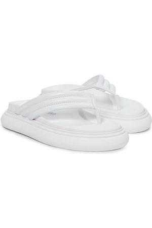 The Attico Alton leather thong sandals