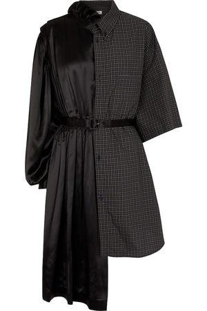 Balenciaga Silk satin and cotton poplin minidress