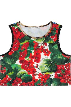 Dolce & Gabbana Floral stretch-jersey top