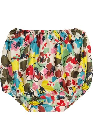 Caramel Baby Grouper floral silk bloomers