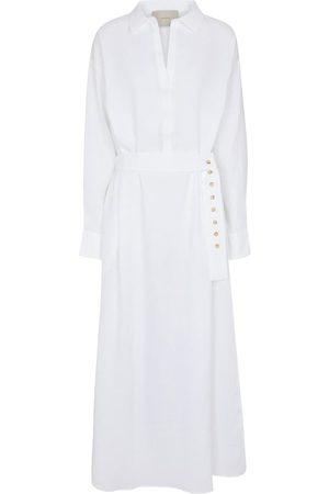 ASCENO Porto Sand linen maxi dress