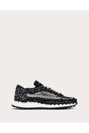 VALENTINO GARAVANI Men Sneakers - Valentino Garavani Crochet Sneakers In Fabric Man 100% Pelle Di Vitello - Bos Taurus 40