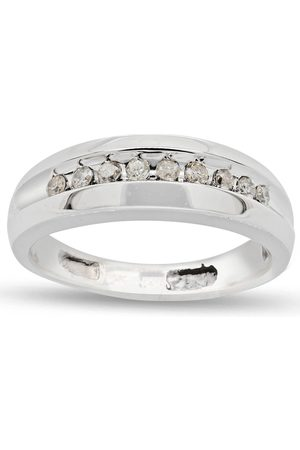 SuperJeweler Previously Owned 1/8 Carat Men's Channel Set Diamond Wedding Band Ring in 14K (3 g)