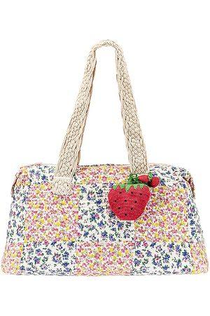 LOVESHACKFANCY Oran Weekend Bag in Pink.