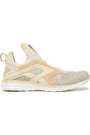 APL® ATHLETIC PROPULSION LABS Women Sneakers - Woman Suede-trimmed Mélange Mesh And Neoprene Sneakers Size 10.5