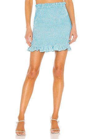 BCBGeneration Women Mini Skirts - Stretch Seersucker Gingham Skirt in .