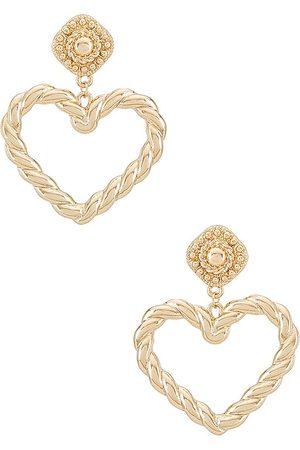 8 Other Reasons Happy Heart Earrings in Metallic .