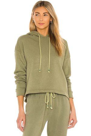 Donni. Vintage Fleece Gem Hoodie in Olive.