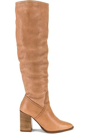 Free People Riley Tall Slouch Boot in Nude.