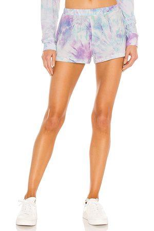 Stripe & Stare Women Sweats - Bedshort in Purple,Mint.