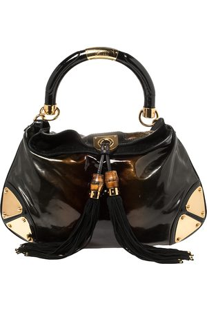 Gucci Women Purses - Ombre /Brown Patent Leather Medium Indy Hobo