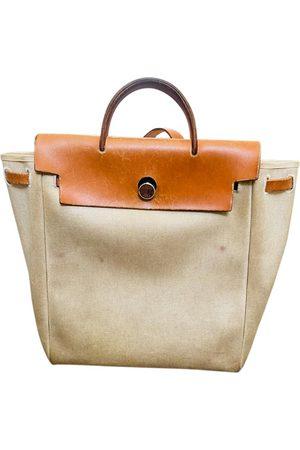Hermès VINTAGE Herbag Cloth Backpack for Women