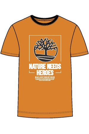 Timberland Nature Needs Heroes Front Graphic Regular L Dark Cheddar