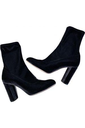 OSCAR TIYE \N Velvet Ankle boots for Women