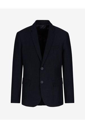 Armani Men Blazers - Blazer Navy Linen, Viscose