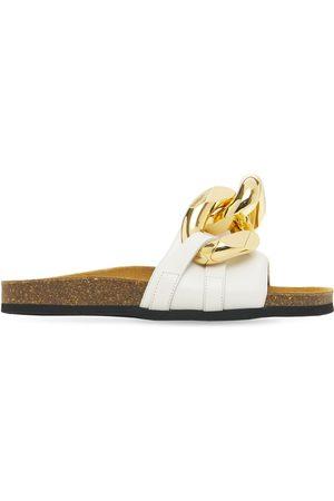 J.W.Anderson 15mm Embellished Leather Slide Sandals