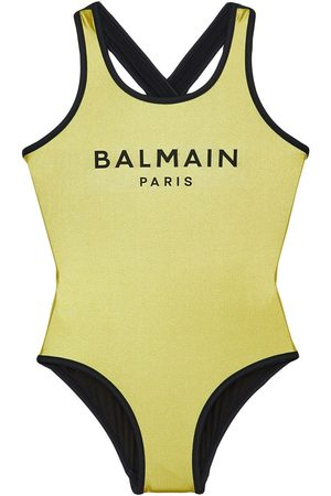 Balmain Logo Printed One Piece Swimsuit