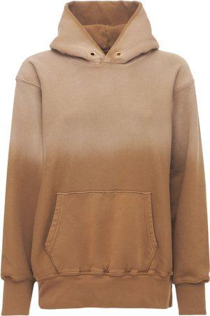 Les Tien Women Hoodies - Gradient Crop Cotton Sweatshirt Hoodie