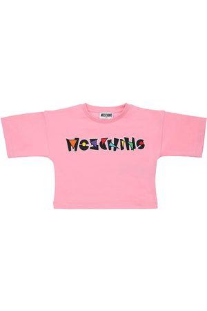Moschino Girls T-shirts - Logo Print Cotton Jersey T-shirt