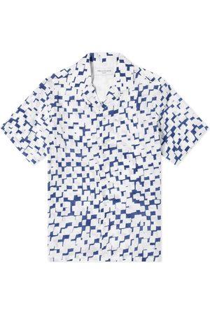 OFFICINE GENERALE Short Sleeve Eren Geometric Print Shirt