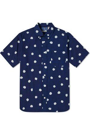 BLUE BLUE JAPAN Men Short sleeves - Hand Drawn Dots Bassen Shirt