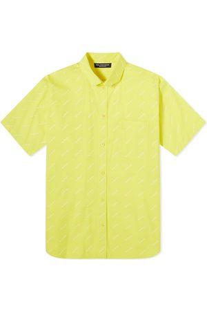 Balenciaga Men Short sleeves - Short Sleeve All Over Logo Shirt