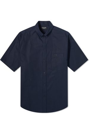 Balenciaga Short Sleeve New Logo Button Down Shirt