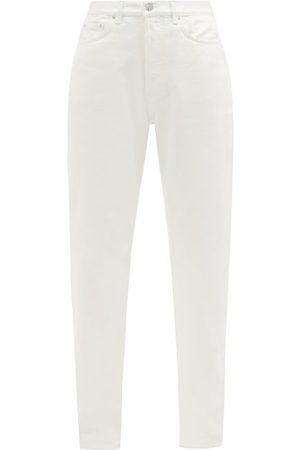 Totême Organic-cotton Straight-leg Jeans - Womens - Ivory