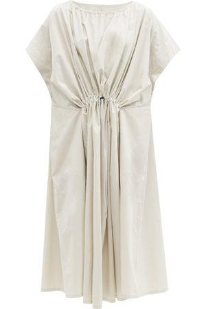 Birkenstock The Mudlark Drawstring-waist Cotton Dress - Womens - Ivory