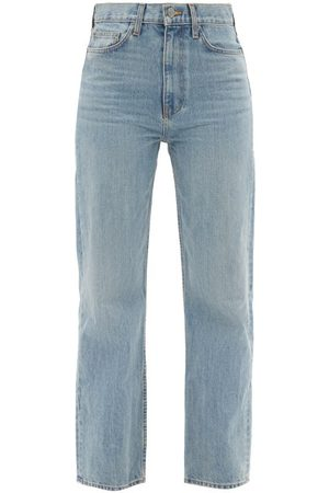 BROCK COLLECTION Women High Waisted - Quark High-rise Straight-leg Jeans - Womens - Light