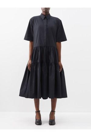 Cecilie Bahnsen Women Casual Dresses - Primrose Tiered Cotton-poplin Shirt Dress - Womens
