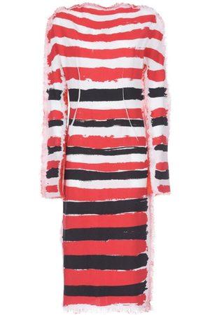 Marni Brushtroke Stripe-print Gauze Dress - Womens - Multi