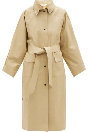 Kassl Editions Press-stud Belted Cotton-blend Raincoat - Womens