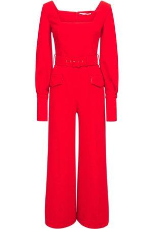 EMILIA WICKSTEAD Belted Double Crepe Long Jumpsuit