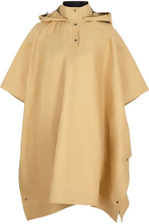 Kassl Editions Sand hooded cotton-blend poncho