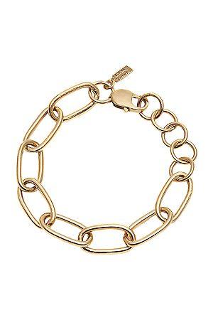 LOREN STEWART Industrial XXL Long Link Bracelet in Metallic