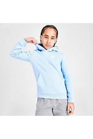 Nike Boys' Sportswear Club Fleece Pullover Hoodie in /Psychic Size Small 100% Cotton/Polyester/Fleece